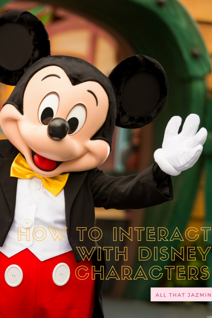 interact with disney characters