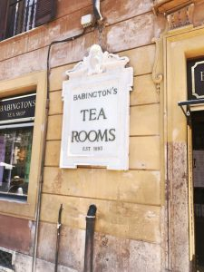 Babington's Tea Rooms Rome Travel Diary